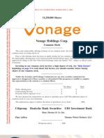 Vonage Holdings Preliminary Prospectus 0506