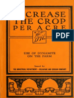 Use of Dynamite on the Farm
