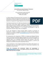 [Spanish] Call for IPSF PARO Positions 2014-2015