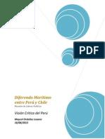 Diferendo Marítimo Entre Perú y Chile