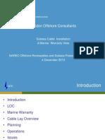 6. Loc Subsea Cables Installation Marine Warranty View - Narec 4-12-13