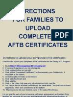 AFTB Certificate Upload
