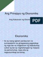 Prinsipyo Ng Ekonomiks