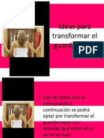 Ideas Para Transformar El Guardarropas
