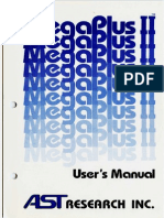 AST MegaPlus II - Users Manual - August 83