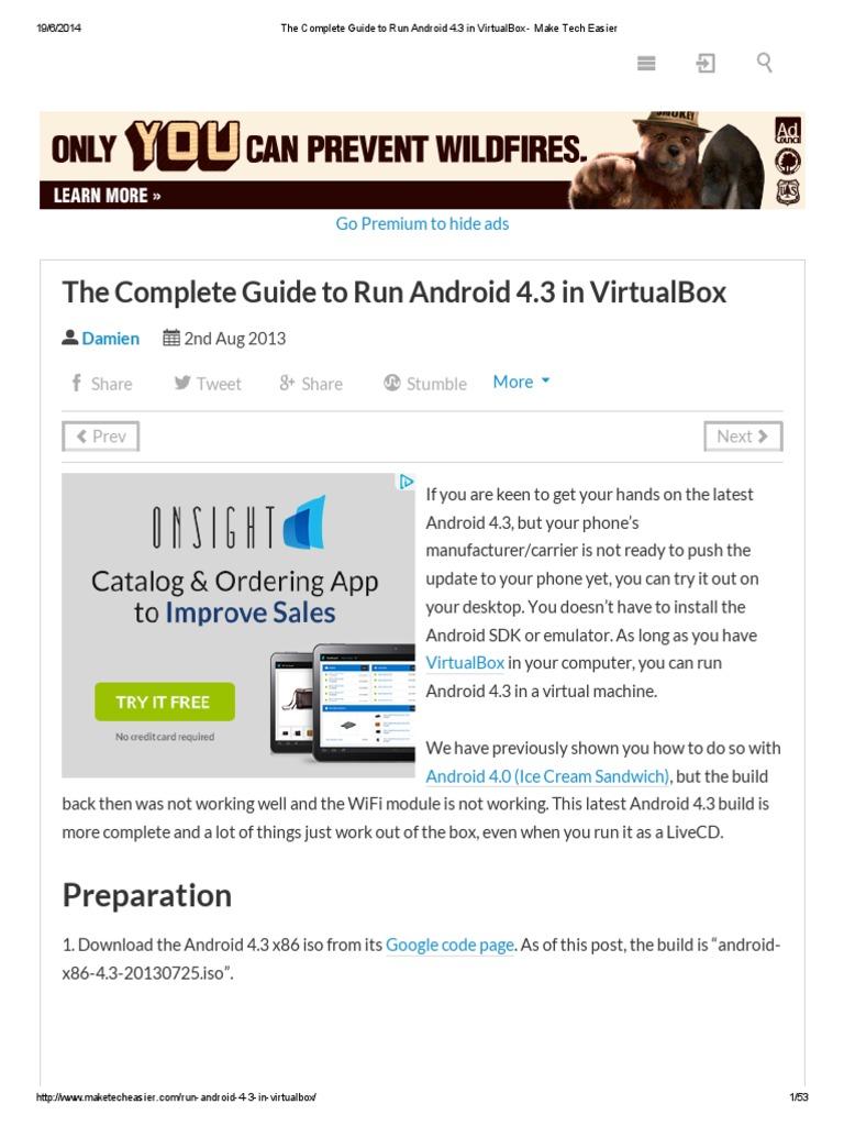 Android X86 Stuck At Android Logo Virtualbox