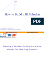 How to BUILD BI Solution