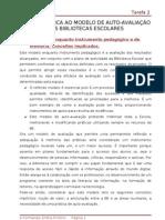 ANÁLISE CRITICA AO MODELO DE AUTO - TAREFA 2 - Mila