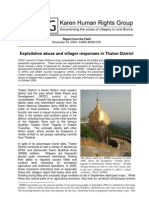 Exploitative abuse and villager responses in Thaton District
