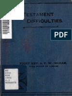 New Testament Difficulties (Fir - Arthur Foley Winnington-Ingram