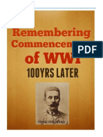 ERemembering the Commencement of World War I - 100 Years LaterBook_Commencement WWI With Coverr