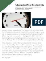 13 Strategies to Jumpstart Your Productivity