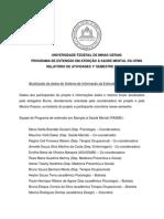 Relatório de Atividades Do Pasme 1º Semestre 2014 - Av Ançado2