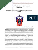 La Legislacion, El Legislador y El Analisis Cualitativo