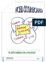 Balance Scored Card Libro