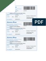 Kwitansi Jawa Pos