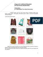 K To 12 Handicrafts Learning Module Embroidery Yarn