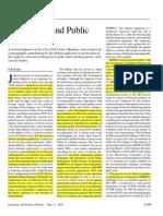 Sathe -Defamation and Public Advocacy
