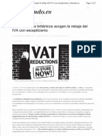 Artículo sobre el IVA en el Reino Unido