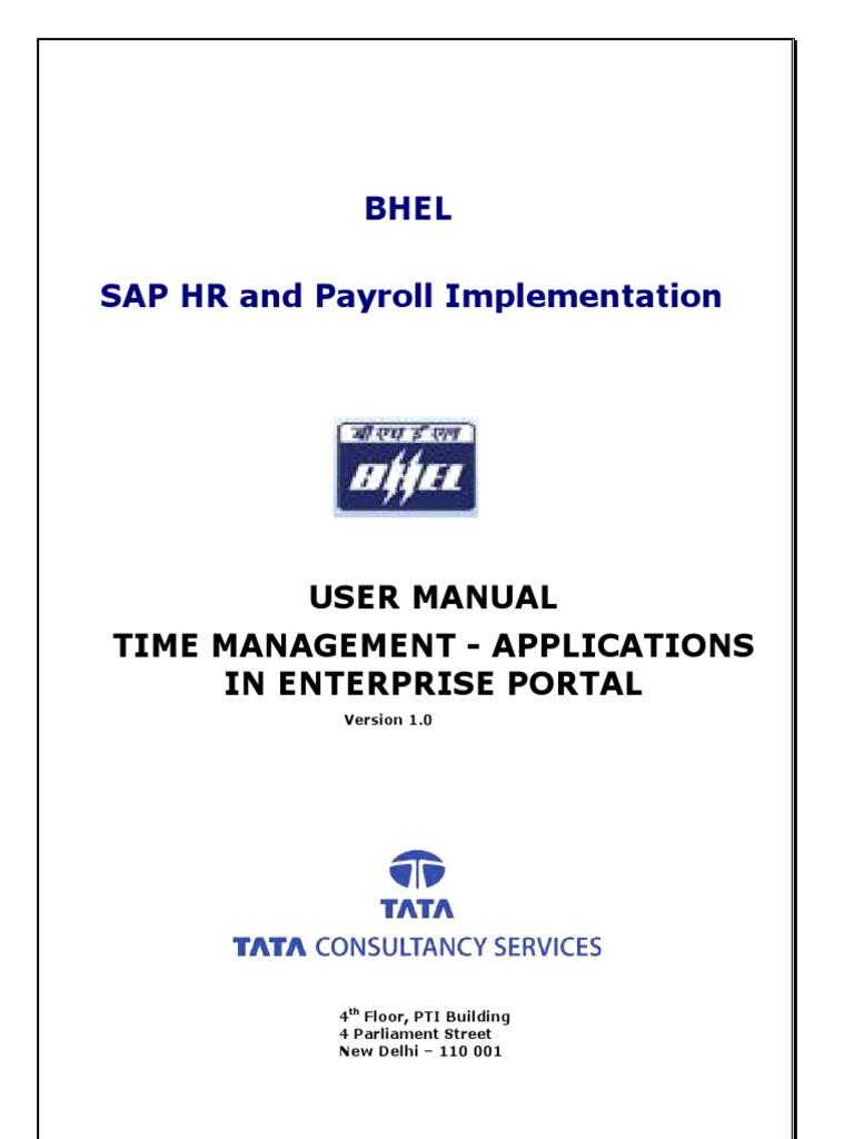 user manual ess time management doc ess manual pdf payroll email rh scribd com sap hr user manual pdf sap hr om user manual pdf