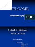 SOLAR THERMAL PROPULSION - Seminar of Electrical Engineering - EEERulez.blogSpot.in