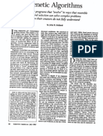Holland (1992). Genetic algorithms