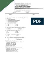 Soal UAS Matematika Kelas 3 Semster 1 ASLINA