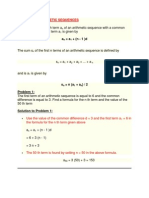 Arithmetic and Geometric Sequence