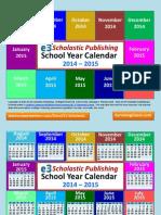 Interactive School Year Calendar 2014-2015