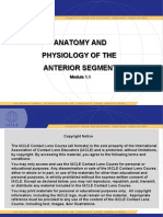 Anatomy & Physiology of the Anterior Segment Module 1.1_FINAL