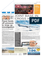 Asbury Park Press front page Monday, June 30 2014