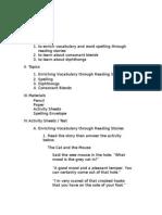 Lesson Plan-English