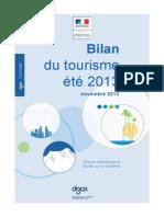 Bilan Du Tourisme Ete2013