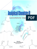 Analytical Chemistry Laboratory Report (Total Hardness)