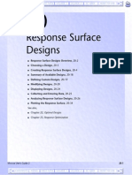 Response Surface Design in Minitab