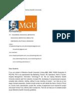 MBA Project Report of Mahatma Gandhi University