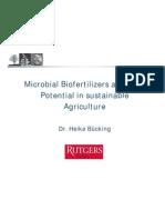 Bucking Microbial Biofertilizers&Their Potential Presentation