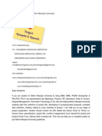 MBA Project Report of Sikkim Manipal University