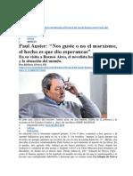 AUSTER Paul - Marxismo El Hecho Es Que Dio Esperanzas