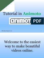 Tutorial in Animoto Elbionline.blogspot.com