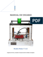 Manual de Usuario Modelo Maker T-125