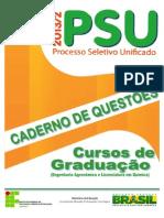 Ifro Caderno Questoes Psu2013 2 Cursos Graduacao