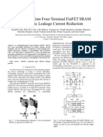 Independent-gate four-terminal FinFET SRAM for drastic leakage current reduction