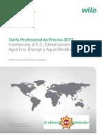 Wilo Bombas y Grupos de Presion Tarifa 2013