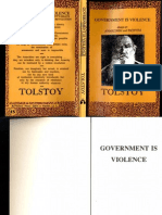 Leo Tolstoy Government is Violence Essays on Anarchism and Pacifism 1