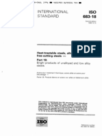 ISO 683-18-1996 Heat-treatable Steels, Alloy Steels and Free-cutting Steels - Part 18 Bright Products of Unalloyed and Low Alloy Steels