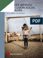 Informe Save the Children Pobreza Infantil Exclusion Social Europa