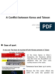 A Conflict Between Korea and Taiwan (1)