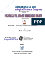 ABSTRACT BOOK OF 1ST INTERNATIONAL AND 3RD INDIAN PSYCHOLOGICAL SCIENCE CONGRESS HELD ON 24-25, FEBRUARY, 2014 AT CHANDIGARH- INDIA