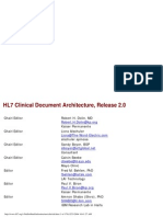 HL7 Clinical Document Architecture, Release 2.0